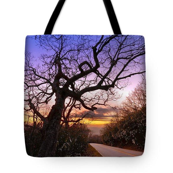 Evening Tree Tote Bag by Debra and Dave Vanderlaan