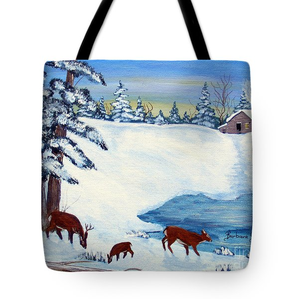 Evening Visitors Tote Bag by Barbara Griffin