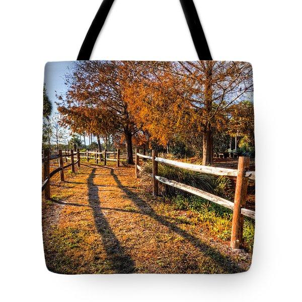 Evening Walk Tote Bag by Debra and Dave Vanderlaan