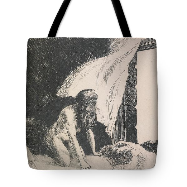 Evening Wind Tote Bag by Edward Hopper