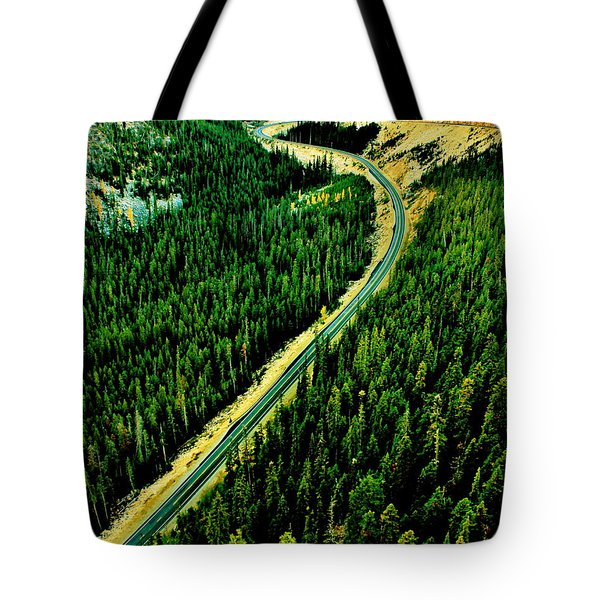 Evergreen Highway Tote Bag by Benjamin Yeager