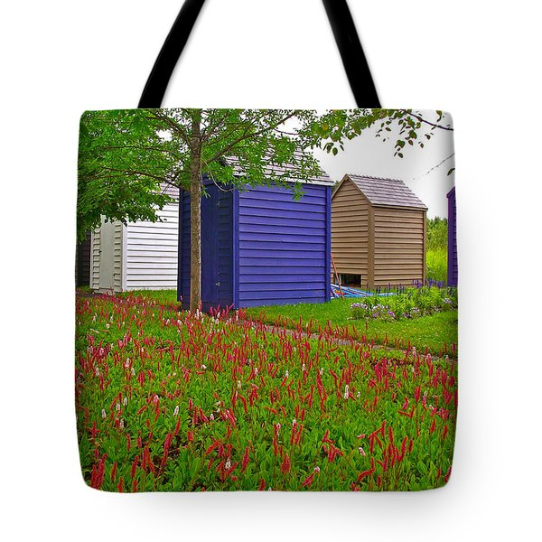 Every Garden Needs A Shed And Lawn In Les Jardins De Metis/reford Gardens-qc Tote Bag by Ruth Hager
