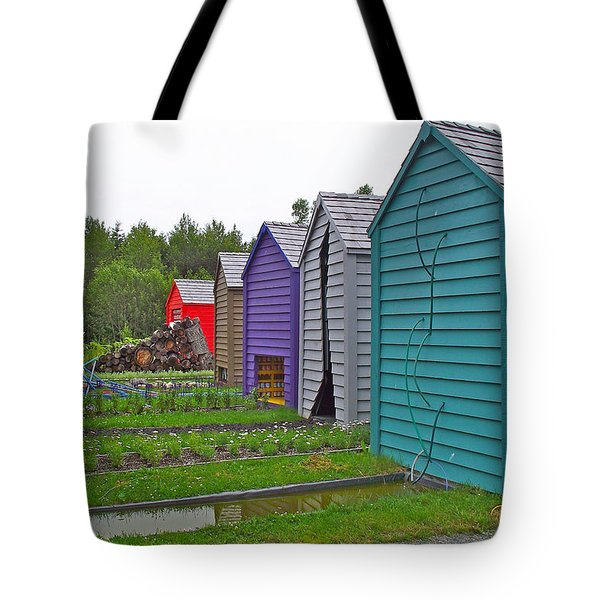 Every Garden Needs A Shed And Lawn Two In Les Jardins De Metis/reford Gardens Near Grand Metis-qc Tote Bag by Ruth Hager