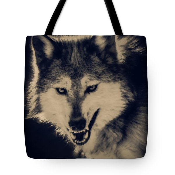 Evil Wolf Tote Bag by Ernie Echols