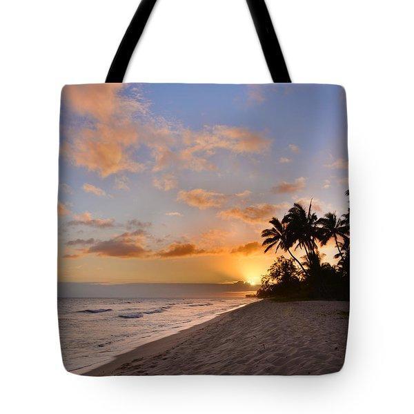 Ewa Beach Sunset 2 - Oahu Hawaii Tote Bag by Brian Harig