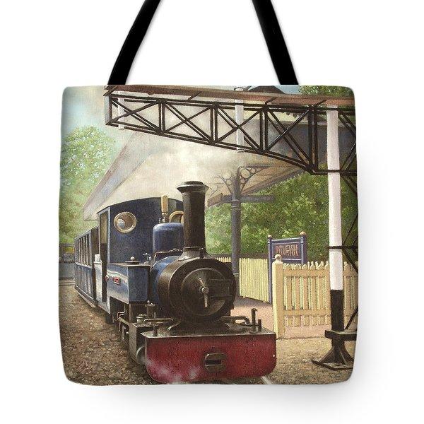 Exbury Gardens Narrow Gauge Steam Locomotive Tote Bag by Martin Davey