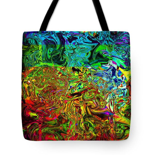 Excitement Sweeps The Room Tote Bag by Johnny Trippick