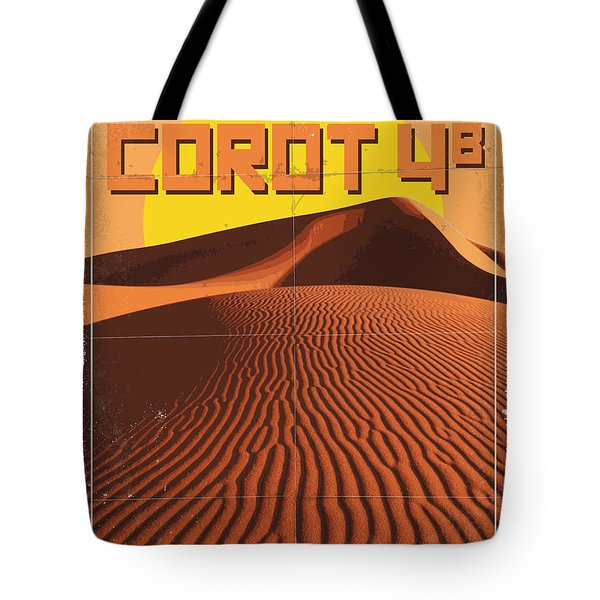 Exoplanet 05 Travel Poster Corot 4 Tote Bag by Chungkong Art