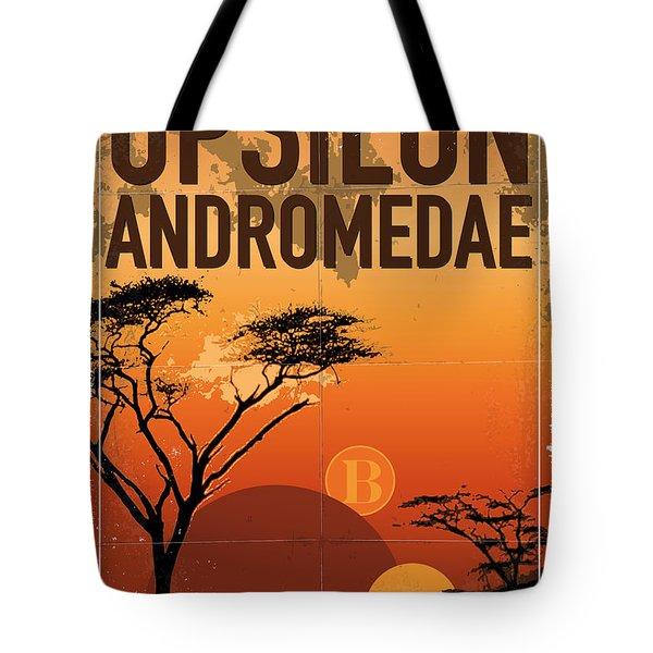 Exoplanet 06 Travel Poster Upsilon Andromedae 4 Tote Bag by Chungkong Art