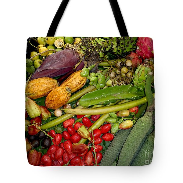 Exotic Fruits Tote Bag by Carey Chen