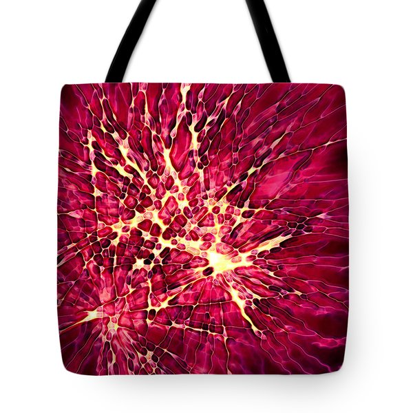 Explosion Tote Bag by Stephanie Hollingsworth