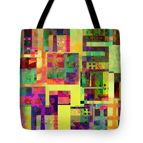 Extreme Color  Abstract Art Tote Bag by Ann Powell