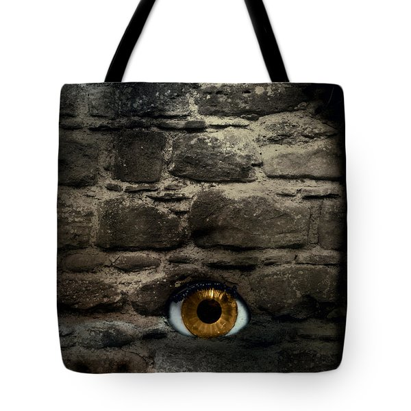 Eye In Brick Wall Tote Bag by Amanda And Christopher Elwell