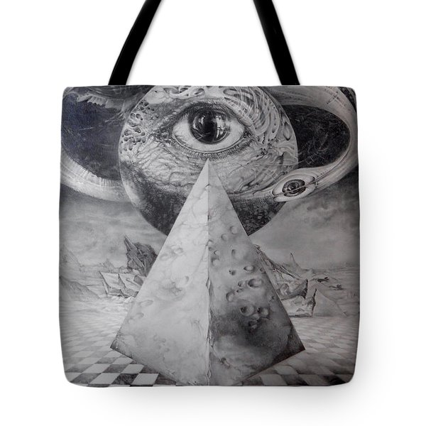 Eye Of The Dark Star - Journey Through The Wormhole Tote Bag by Otto Rapp
