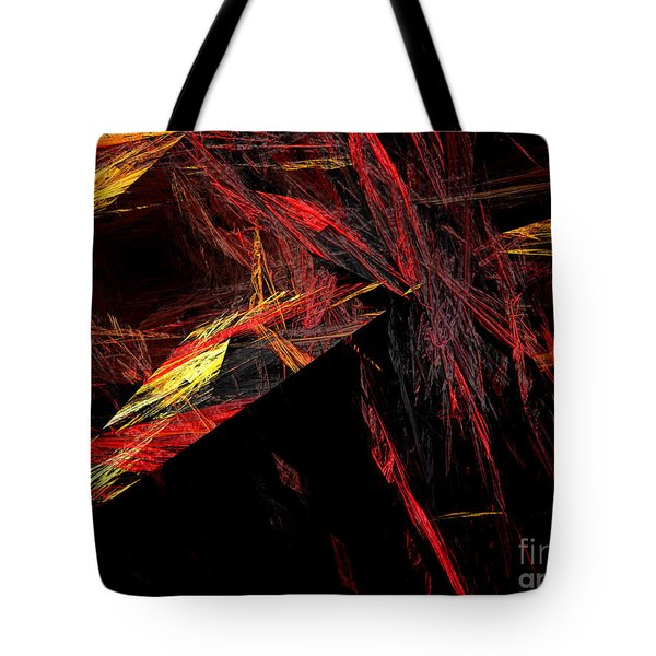 Eye Of The Storm 1 - Direct Hit - Abstract - Fractal Art Tote Bag by Andee Design