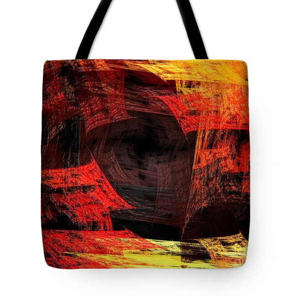Eye Of The Storm 2 - Blown Away - Abstract - Fractal Art Tote Bag by Andee Design