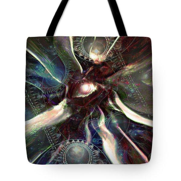 Eye Of The Universe Tote Bag by Linda Sannuti