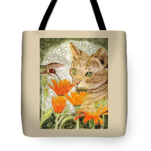 Eye To Eye Tote Bag by Angela Davies