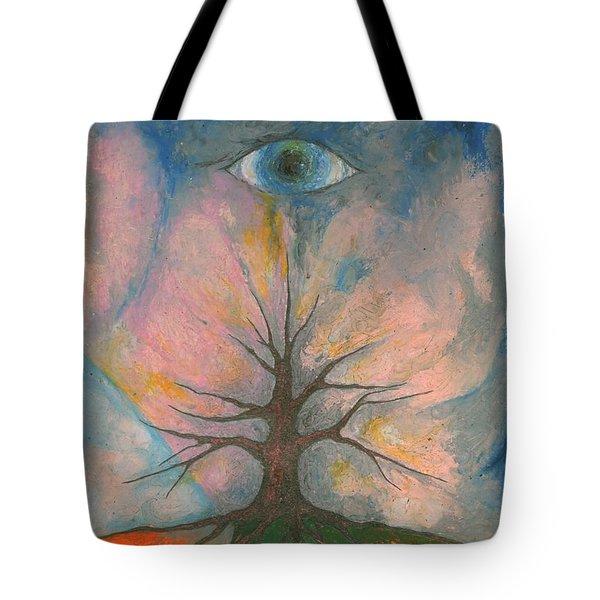 Eye Tote Bag by Wojtek Kowalski