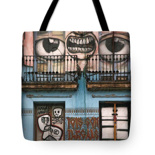Eyes Of Barcelona Tote Bag by Joanna Madloch