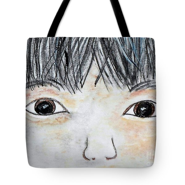 Eyes of Love Tote Bag by Eloise Schneider