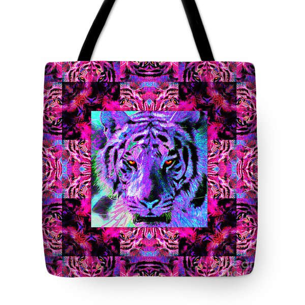 Eyes of The Bengal Tiger Abstract Window 20130205p0 Tote Bag by Wingsdomain Art and Photography