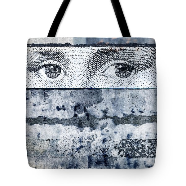Eyes on Blue Tote Bag by Carol Leigh