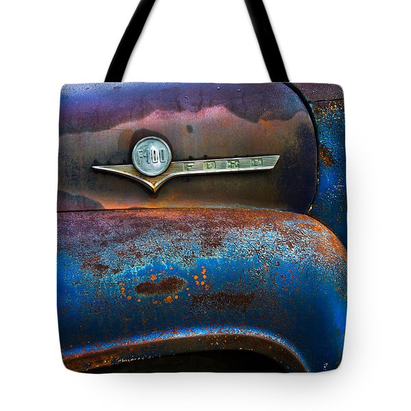 F-100 Ford Tote Bag by Debra and Dave Vanderlaan