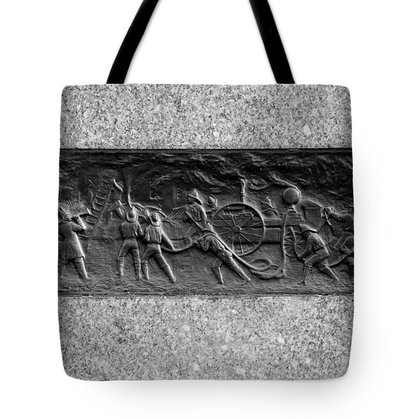 F. D. N. Y. In Black And White Tote Bag by Rob Hans