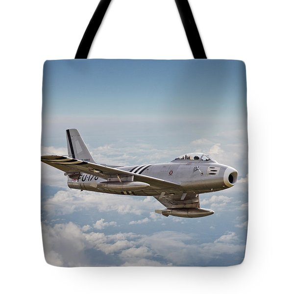 F86 Sabre Tote Bag by Pat Speirs