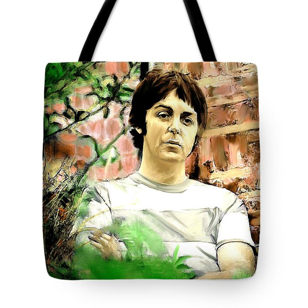 Fab  Paul McCartney  Tote Bag by Iconic Images Art Gallery David Pucciarelli