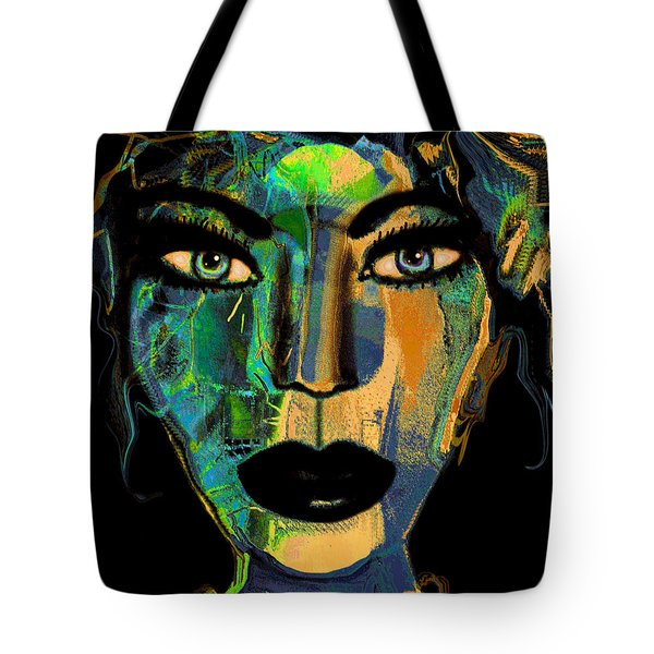 Face 16 Tote Bag by Natalie Holland