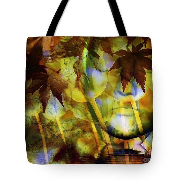 Face In the Rock Dreams of Tulips Tote Bag by Elizabeth McTaggart
