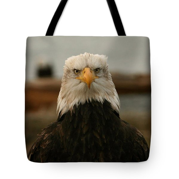 Face Off Tote Bag by Crystal Magee