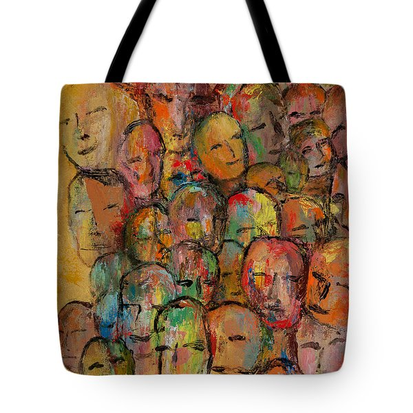 Faces In The Crowd Tote Bag by Larry Martin