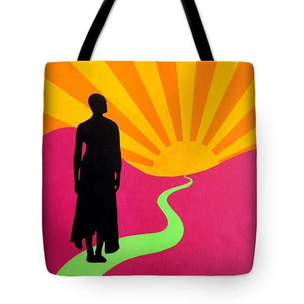 Facing East - A New Dawn Tote Bag by Oliver Johnston