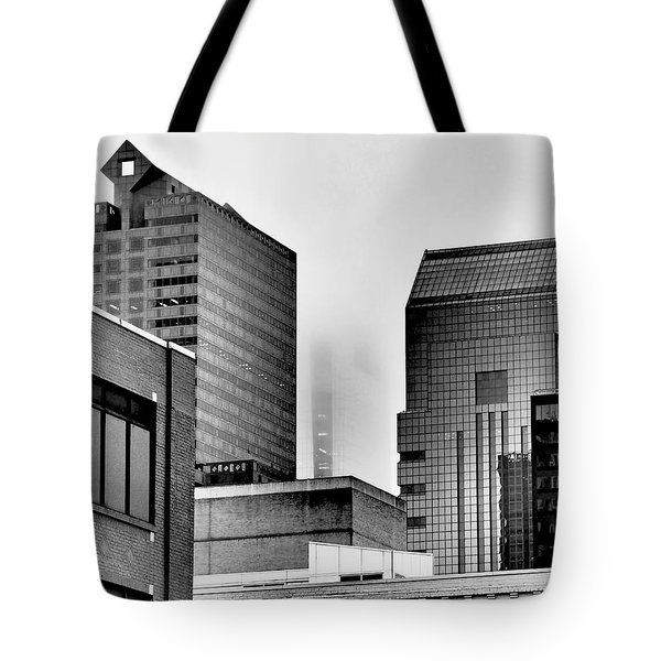 Fade To Grey Tote Bag by Rona Black