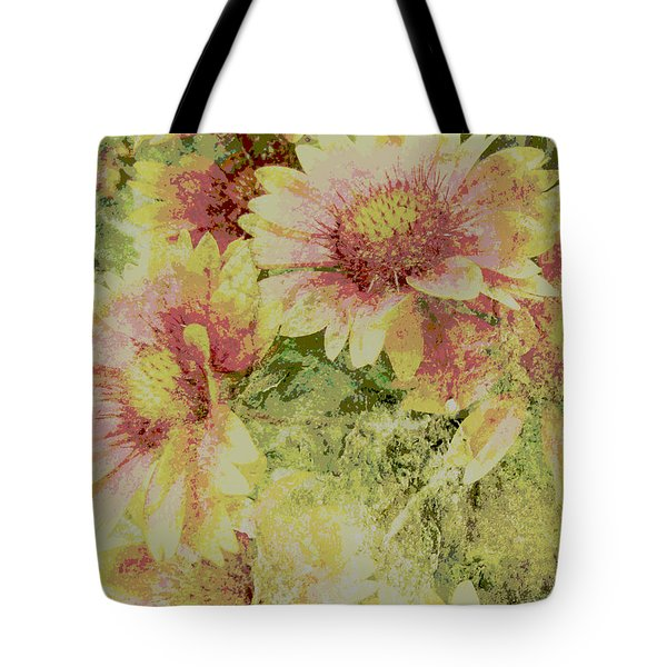 Faded Love Abstract Floral Art Tote Bag by Ann Powell