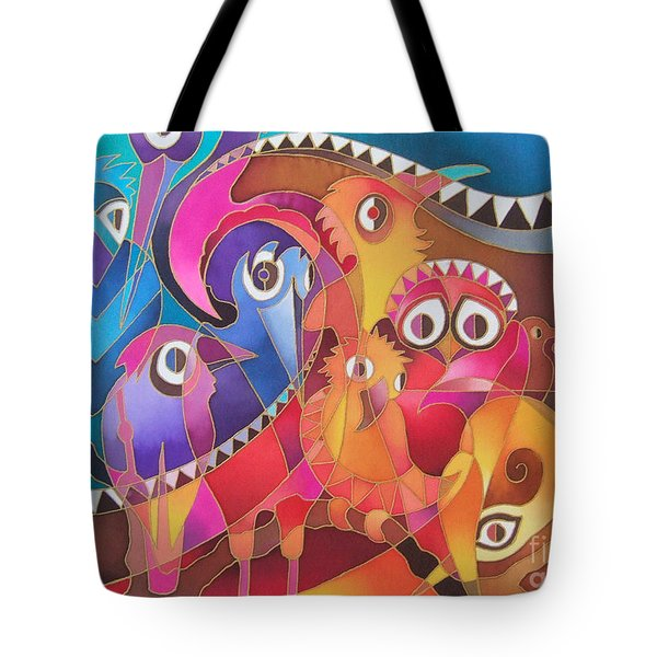 Fair Weather Friends Tote Bag by Maria Rova