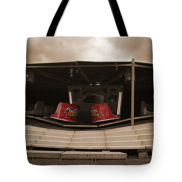 Fairground Waltzer In Sepia Tote Bag by Terri Waters