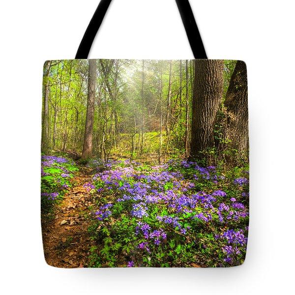 Fairies Forest Tote Bag by Debra and Dave Vanderlaan