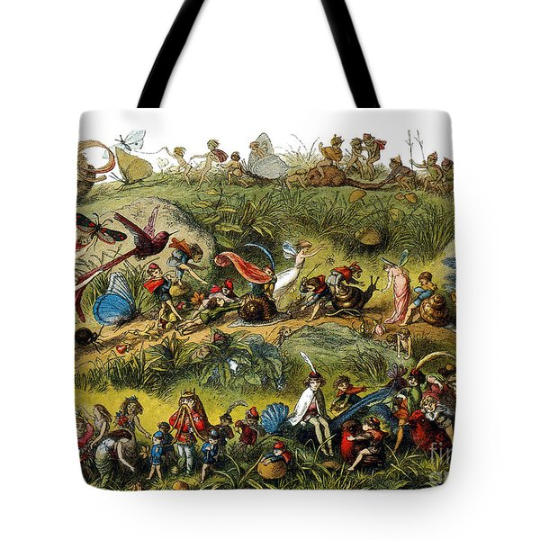Fairy Procession Tote Bag by Photo Researchers