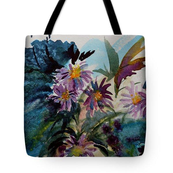 Fairyland Asters Tote Bag by Beverley Harper Tinsley