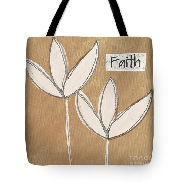 Faith Tote Bag by Linda Woods