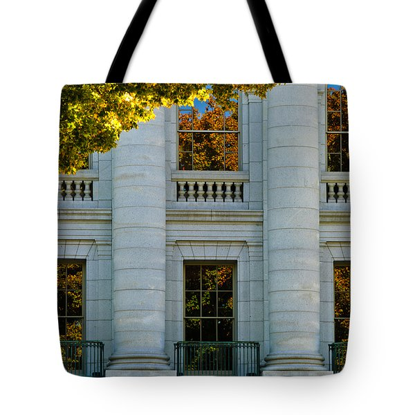 Fall At The Capitol Tote Bag by Christi Kraft