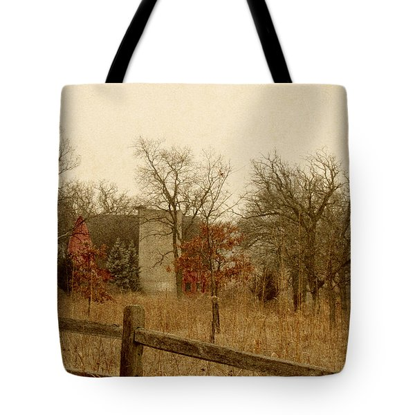 Fall Barn Tote Bag by Margie Hurwich