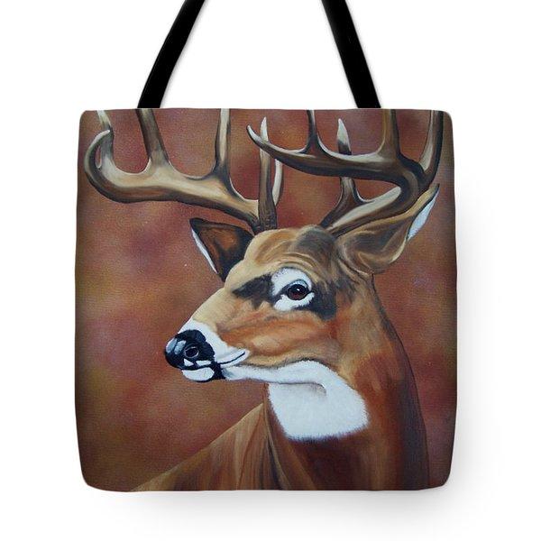 Fall Buck Tote Bag by Debbie LaFrance