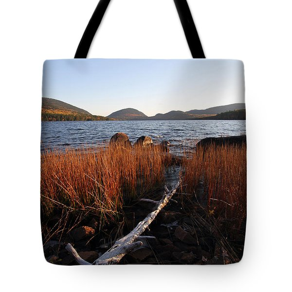 Fall Colors at Eagle Lake in Maine Tote Bag by Juergen Roth