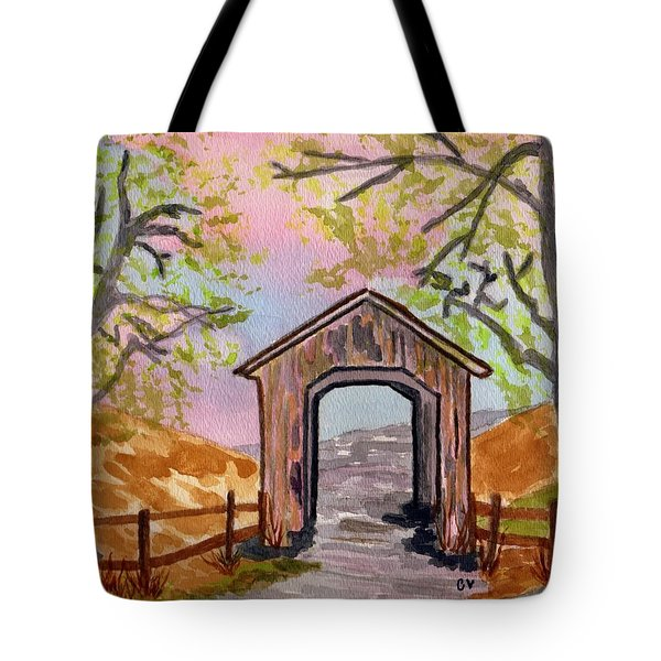 Fall Creek Oregon Tote Bag by Connie Valasco