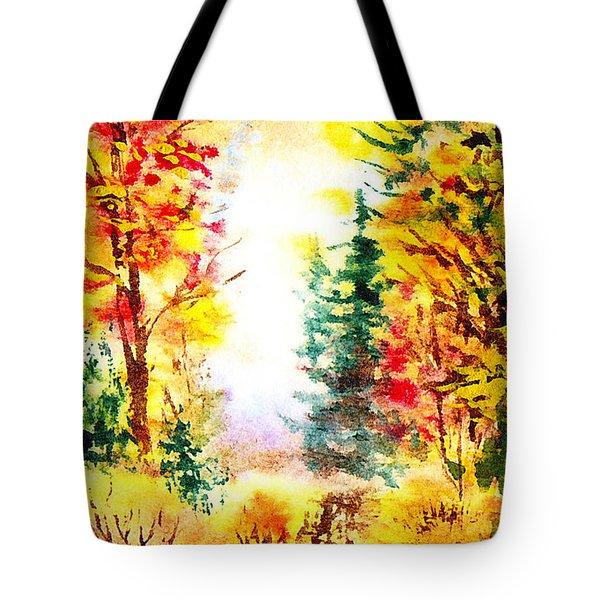 Fall Forest Tote Bag by Irina Sztukowski